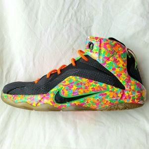 Nike LeBron 12 Fruity Pebbles GS (685181-008) 7Y